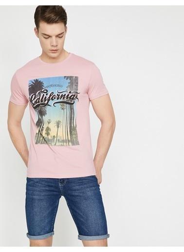 Koton Baskılı T-Shirt Pembe